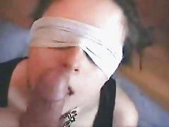 Blindfolded oral sex
