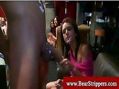 Cfnm horny ladies blowing strippers