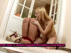 Bianka and Zara stunning lesbian teens licking