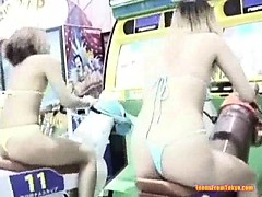Asian girls in an amusement hall