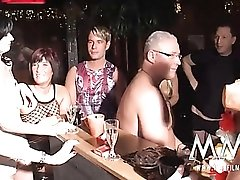 Amateur swingers at the start of a sex party