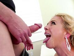 Alluring bimbo Cherie Deville gets fucked by several nasty men