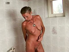 A frisky old couple get their fuck on in an old folks home