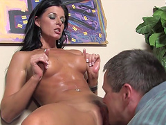 India Summer has sex with two black studs in cuckong scene