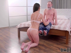 DADDY4K. Beautiful girl cheats on her boyfriend with his...