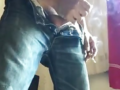 Smoking and jerking off