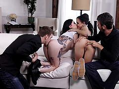 Joanna Angel joins her friends for an amazing foursome
