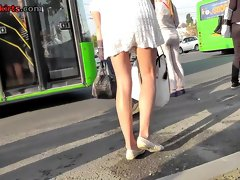 Real upskirt vid shows hottie's amazing skinny butt