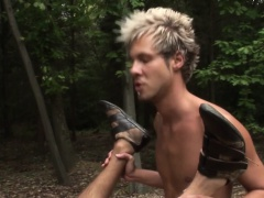 Real european stud assfucked outdoors