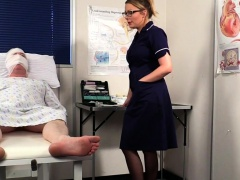 British nurse voyeur instructing sub patient