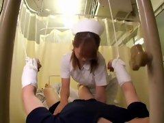 Japanese asian nurse rides my veiny member in voyeur video