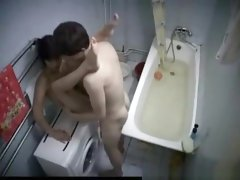 Secret sex in bathroom
