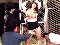Airi Ai sucks dicks while kneeling after getting fingered