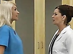 A luscious lesbian scene between coworkers