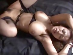 Incredible Japanese whore Sanae Asoh in Horny Fingering, Stockings JAV clip
