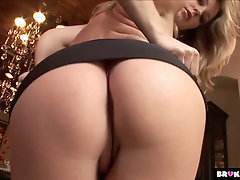Slutty blonde Avy Scott finger fucks her anus while BBC drills her stretched twat