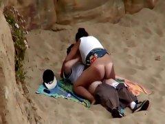 Bouncy ass looks hypnotizing on a beach