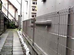 Babe pees in tokyo garage