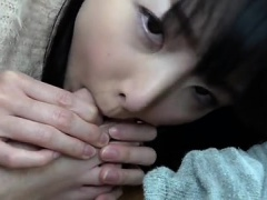 Japanese bang with hairy girl in hotel