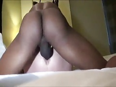 Husband films his wife's ass being fucked by BBC