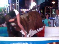 Slutty Ass and Upskirt On The Bull
