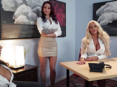 Mind-blowing office sex with a fake-titted stunner Madison Ivy