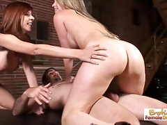 MILF wife surprises her husband with a sexy threesome