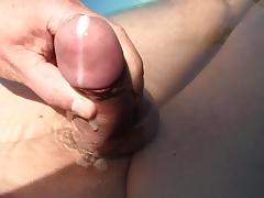 cum in the water