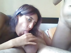 Two girls one cock on webcam