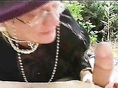 Boning granny in her hot bald cunt