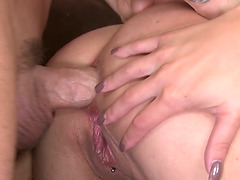 Aubrey Addams gets banged in her ass and pussy