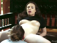 Buxom lovely hottie Casey Calvert is so ready to be fucked from behind