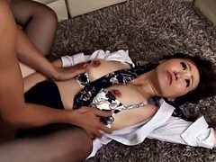Hotel room anal sex with a naughty Japanese stewardess
