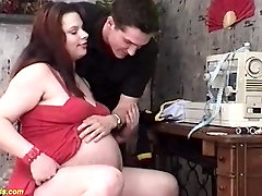 hairy bush teen is extreme pregnant with twins and enjoys rough big cock fucking