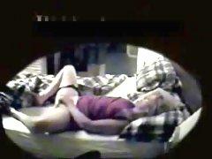 True hidden cam video of my mum masturbating 1