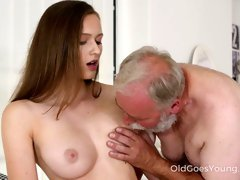Old fart enjoys banging young body of super sexy 19 yo babe Stacy Cruz