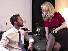 cheating mature cougar wife fucks her office assistant