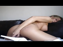 Capri striptease and masturbating