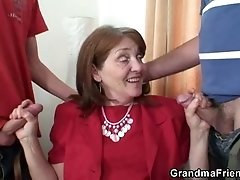 Two dicks for mature
