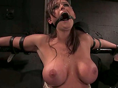 Big Boobed Christina Carter Toyed in Wild Bondage Session