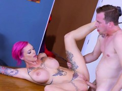Curvy Prof Anna Bell Peaks Gets Facialized By Student