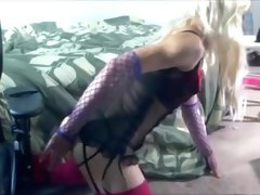 Horny Homemade Shemale movie with Masturbation, Solo scenes