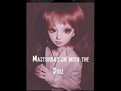 Masturbation with the doll