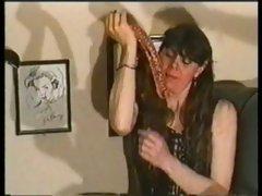 Great dildo vs. esophigus deepthroat action