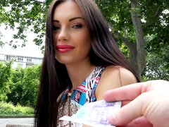 Russian girl Sasha Rose Fucks Outdoors for money