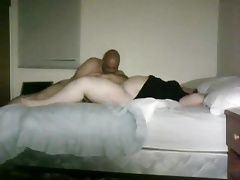 hubby pleasuring a BBW with his mouth and hands