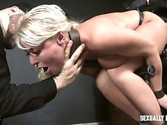 Luckily flexible big breasted slut London River gets hammered really hard