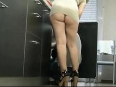 Elegant blonde milf in high heels gives a fabulous blowjob