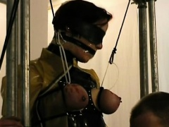 Hawt female naughty bdsm scenes with castigation and sex
