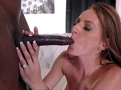 Natasha Starr fucked up her ass by a black man during a cuckold game
